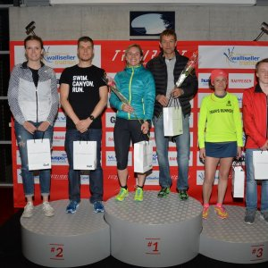 Siegerpodest NighRun Wallisellen