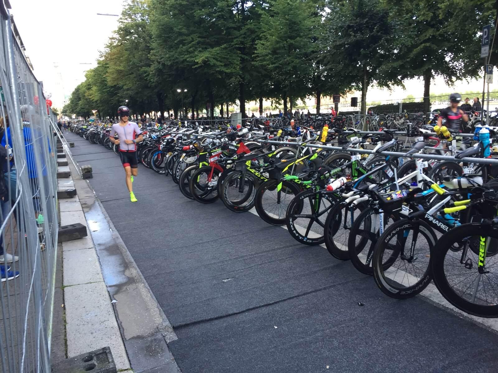 Wechselzone Ironman Hamburg 2017