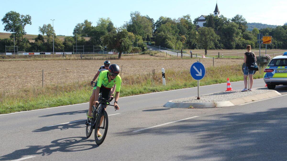 Radabstieg beim Triathlon Schaffhausen 2018