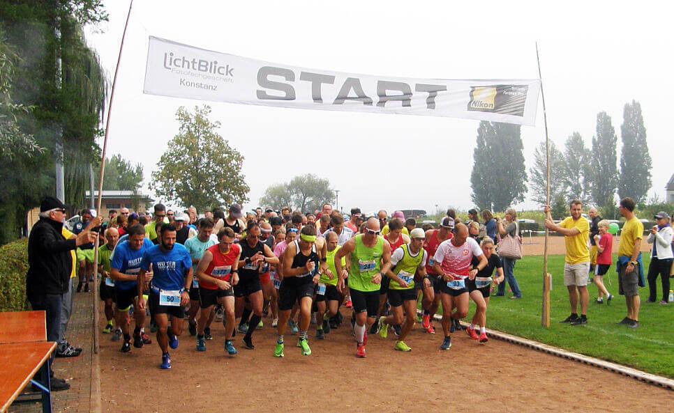 Insellauf Reichenau: Stat Halbmarathon. Bild: Thomas Zoch Südkurier
